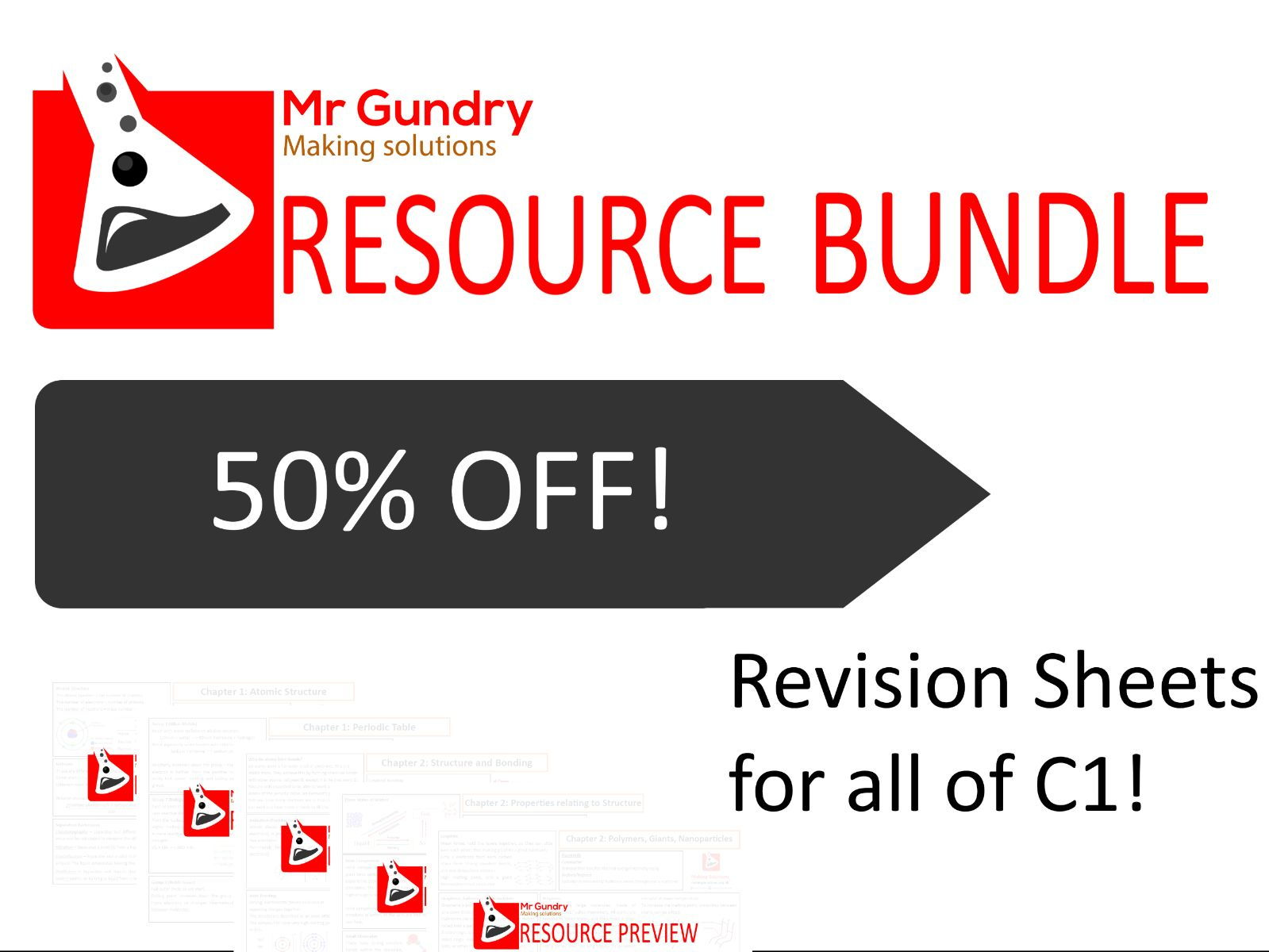 AQA Chemistry CORE Revision Bundle (ALL of C1!)
