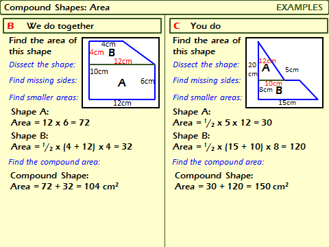Polygons: Area of a Compound Shape