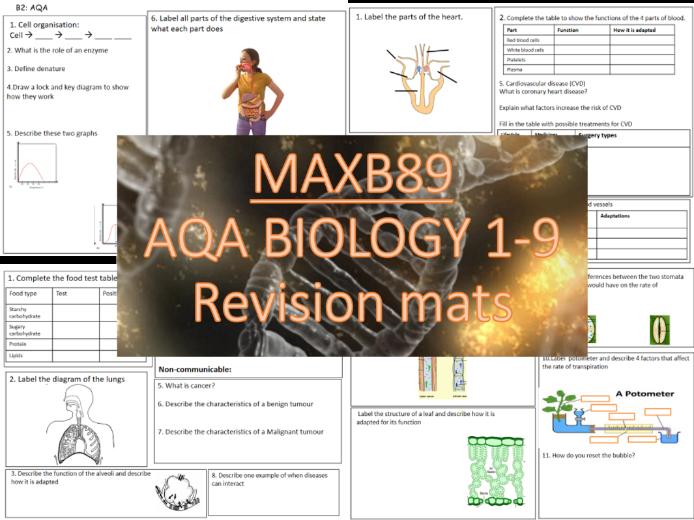 GCSE 9-1 Revision Biology AQA  Unit 2 Revision Slides