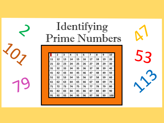 Identifying Prime Numbers PowerPoint