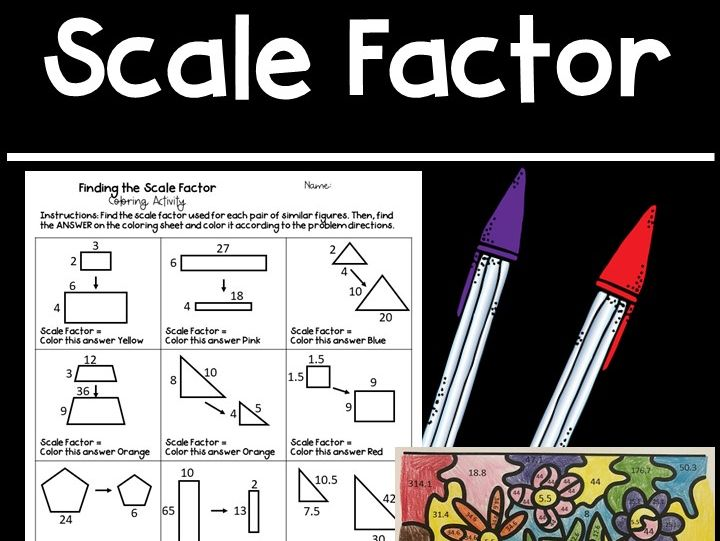Finding the Scale Factor of Similar Figures Colouring Activity