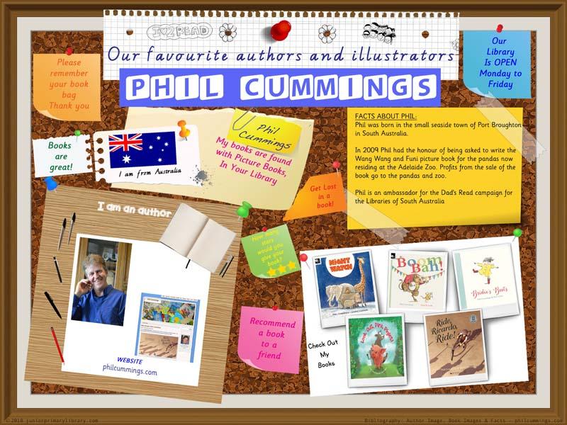 Library Poster - Phil Cummings Australian Author Of Children's Books