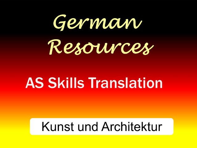 German AS Skills - Translation - Kunst und Architektur