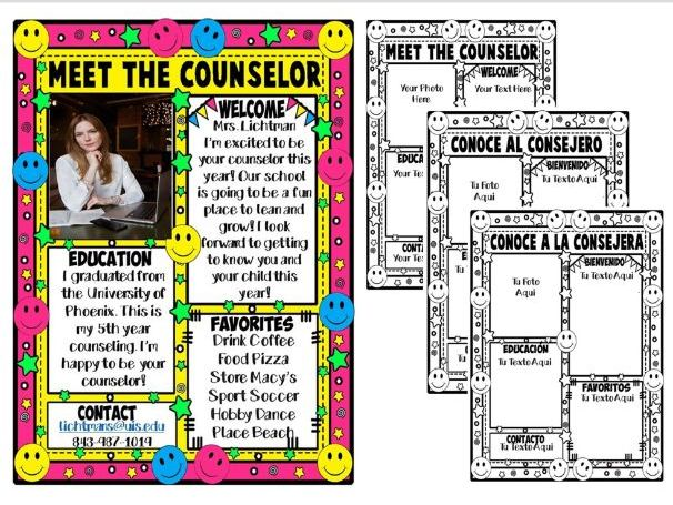 MEET THE COUNSELOR ★ EDITABLE NEWSLETTER ★ FREE PRINTABLES