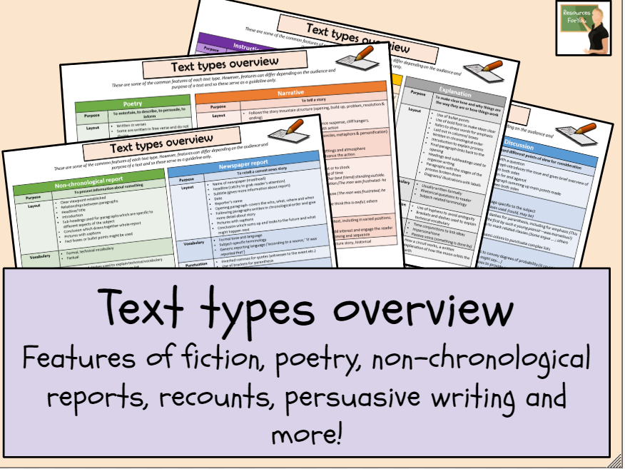 English- Text types overview