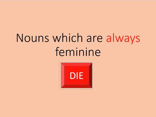 German nouns which are always feminine
