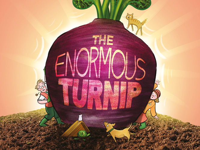 The Enormous Turnip-putting words together to make sentences.