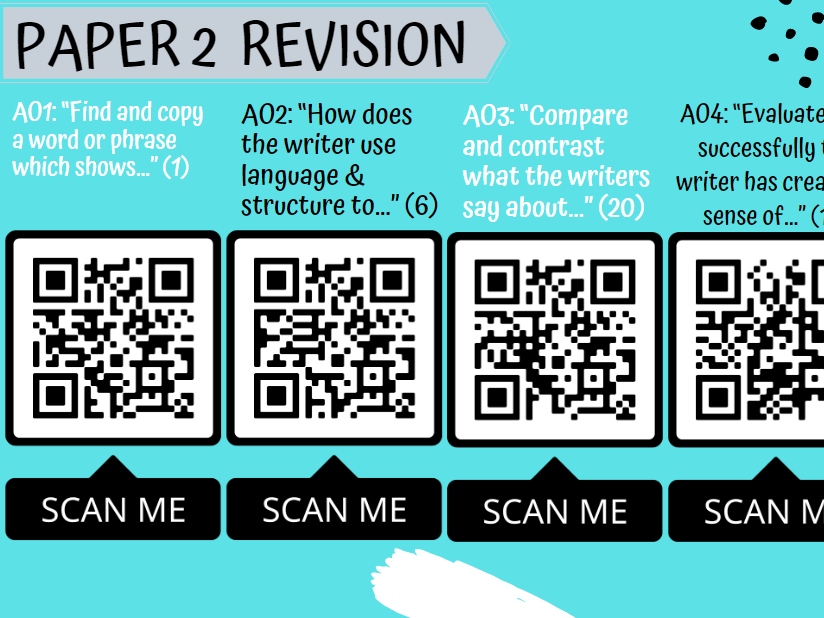EDEXCEL Paper 1 and  2 English Language Revision