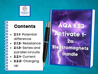 KS3 AQA Activate 1- 2a Electromagnets bundle