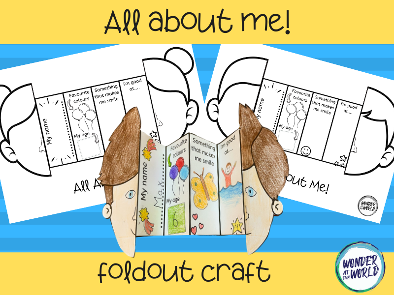 All about me self portrait style foldables