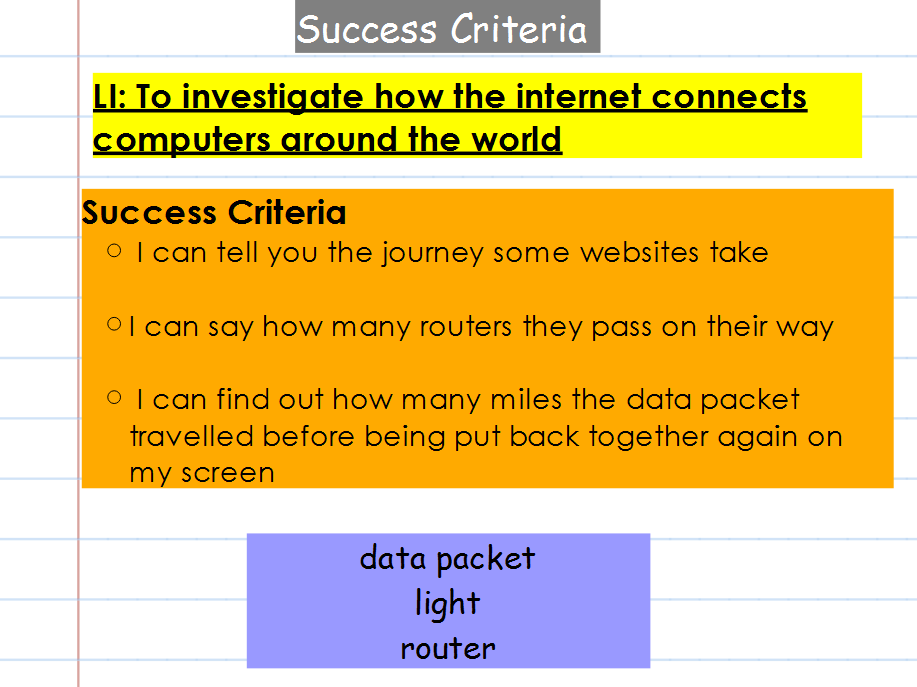 KS2 computing planning - networks and the internet (we are network engineers) complete unit of work