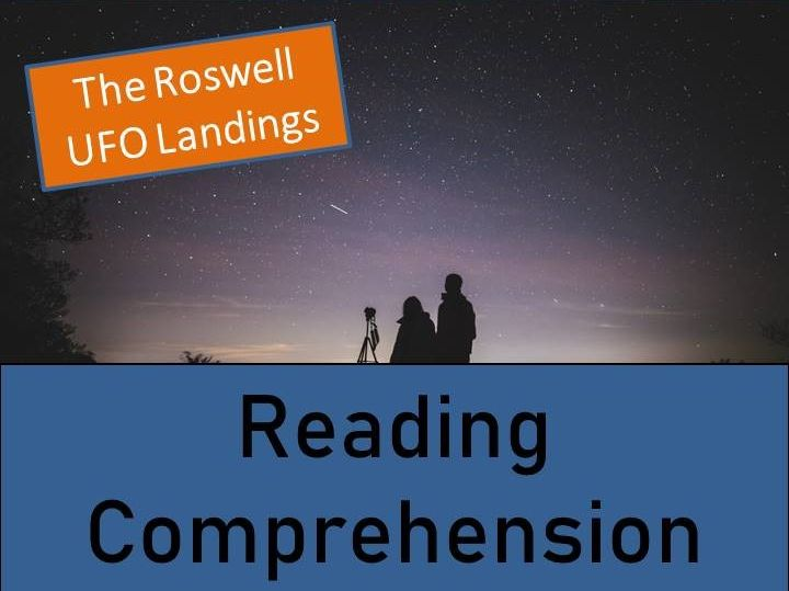 Roswell UFO Landings Reading Comprehension Activity