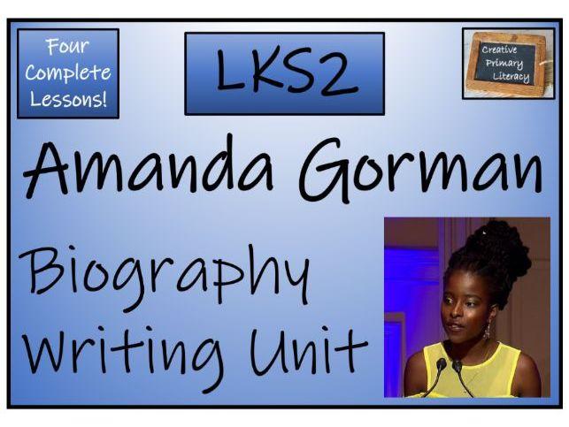 LKS2 Amanda Gorman Biography Writing Unit