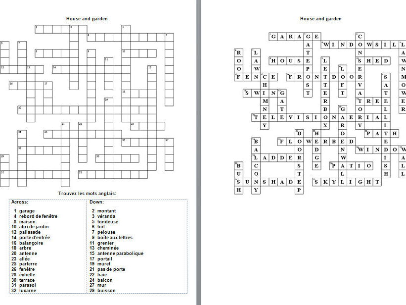 French crossword puzzles