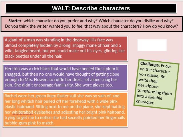 AQA Language Paper 1 Section B Descriptive  Writing