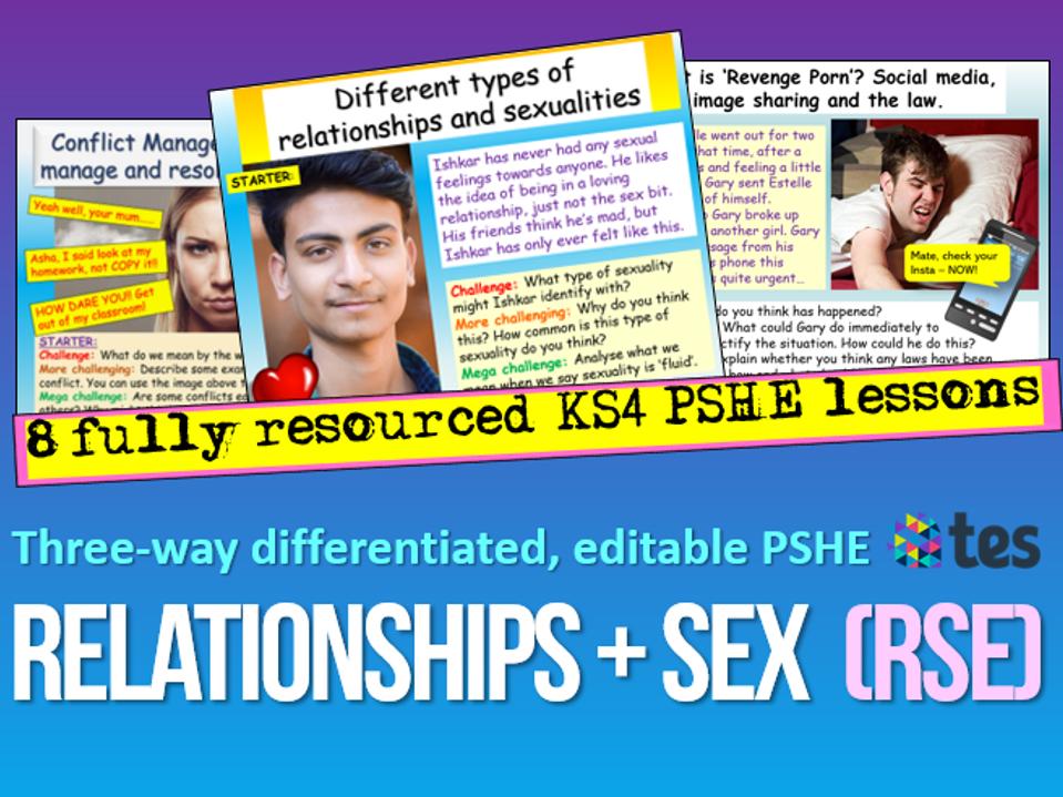 Relationships and Sex Education KS4 PSHE