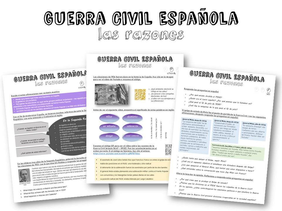 A level Spanish - la Guerra Civil (razones)