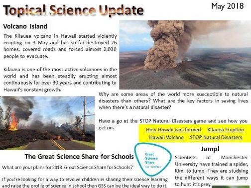 Topical Science Update - May 2018
