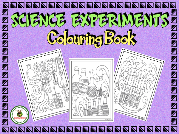 Science Experiments to Colour + Writing Pages