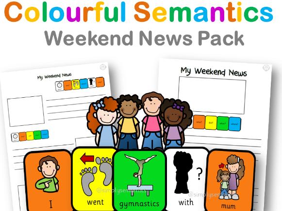 Colourful Semantics: Weekend News!