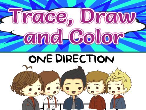One Direction Trace, Draw and Color