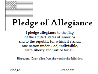 picture about Pledge of Allegiance in Spanish Printable named Interactive Printables - Education Elements - TES