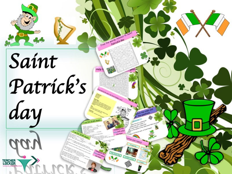 Saint Patrick Day Lesson with activities for ESL student