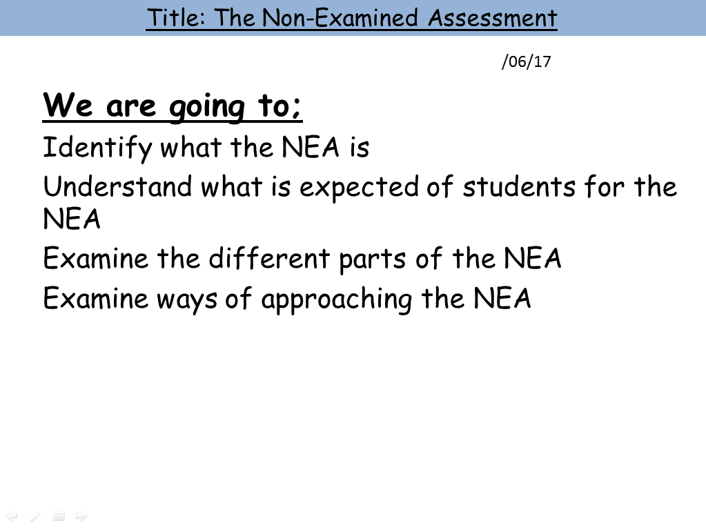 Non-Examined Assessment (NEA) Bundle