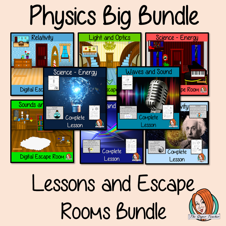 Science Physics Lessons and Escape Rooms Big Bundle