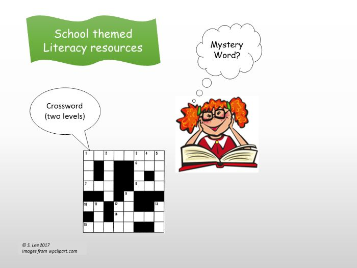 Literacy resources:  School theme