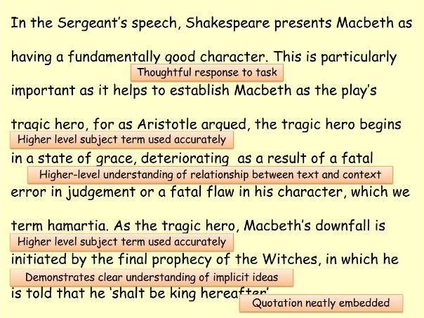 Macbeth: Honour in Act One with Worked Examples