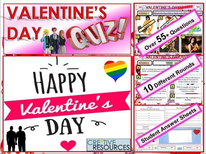 Valentines Day Quiz 2019