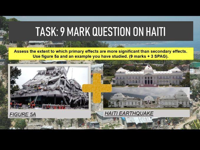 GCSE Geography - Haiti Earthquake Case Study - Lesson 5 ppt, hwk, etc.