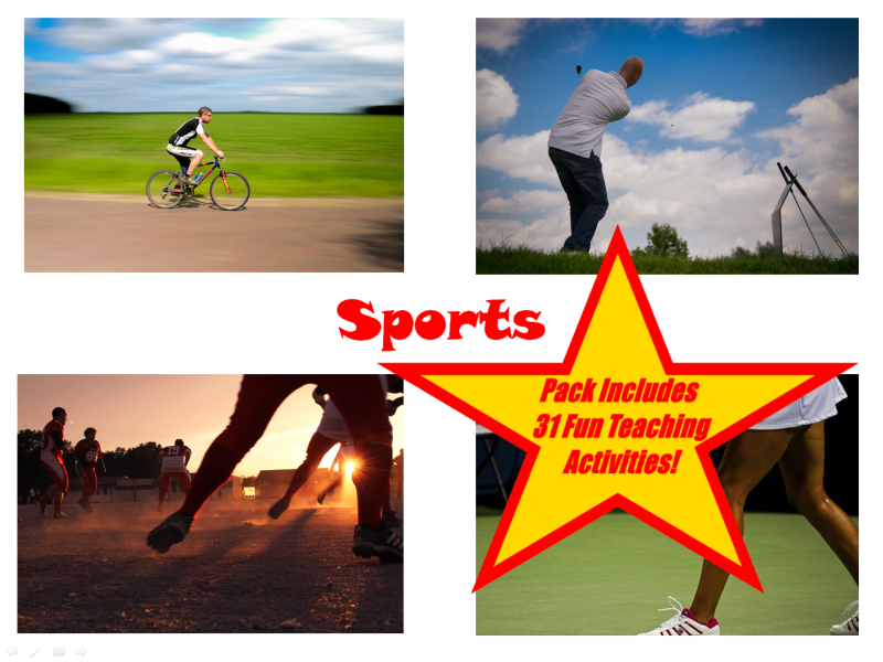30 Sport Pictures PowerPoint Presentation + 31 Fun Teaching Activities To Try In The Classroom.
