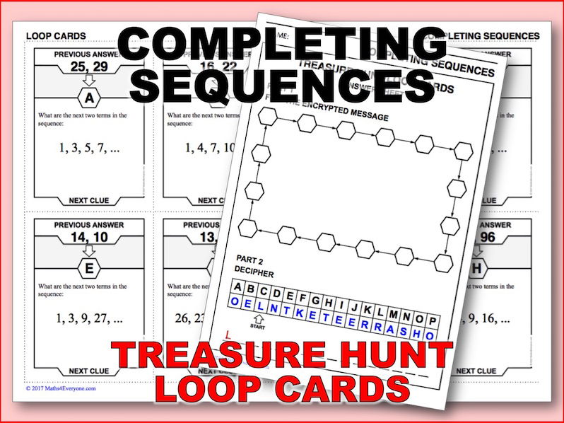 Completing Sequences (Treasure Hunt)