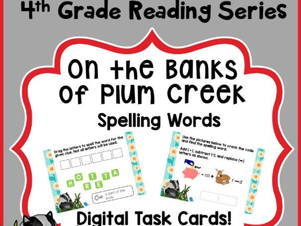 4th Grade Reading Street - On the Banks of Plum Creek Spelling - Boom Cards