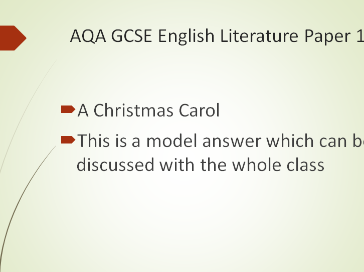 AQA Model Answer – How does Dickens present Scrooge's changing character