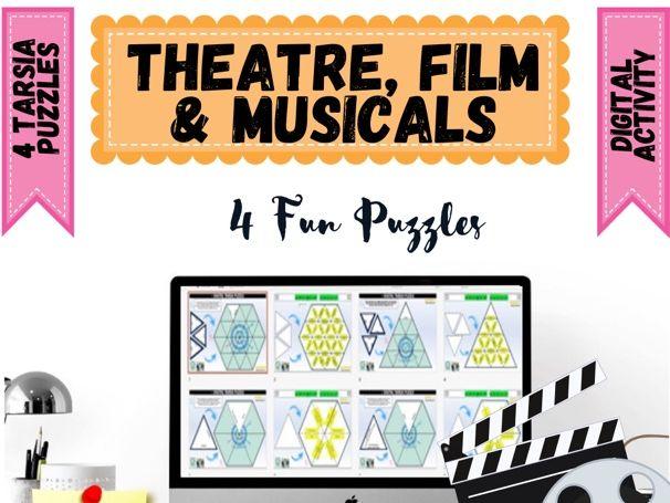 Movie Film Theatre Tarsia Puzzles