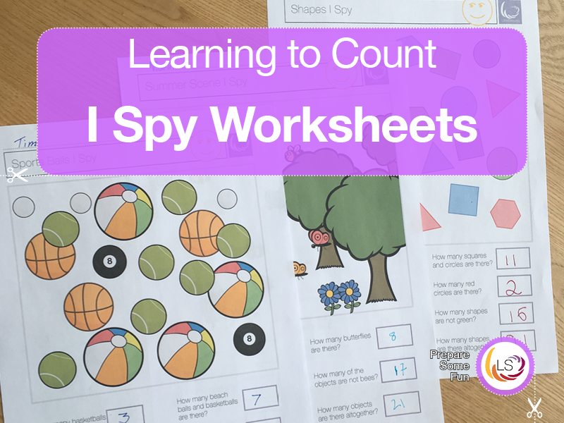 I Spy Counting Activities