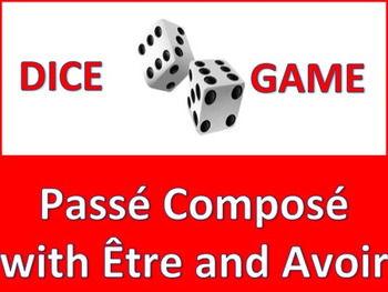 Dice Game - French Passé Composé with Être and Avoir