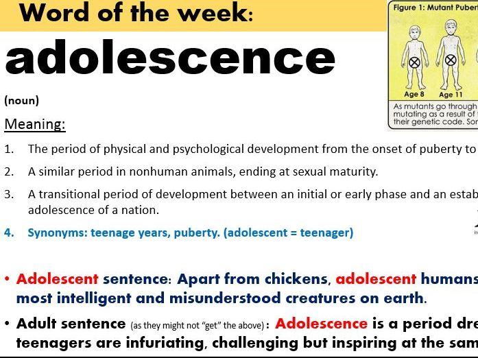 Literacy: Word of the Week