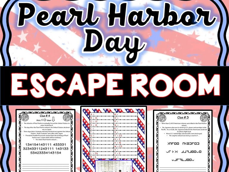 Pearl Harbor Escape Room - No Prep!
