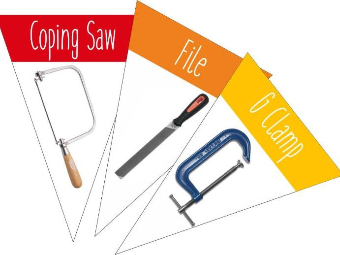 Workshop Tools Bunting with Name and Photo - Keywords
