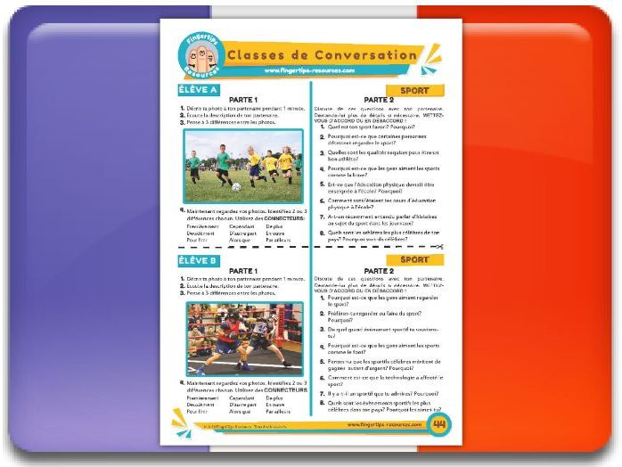 Le sport - French Conversation Activity