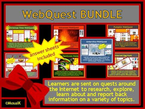 Web Quests in a BUNDLE