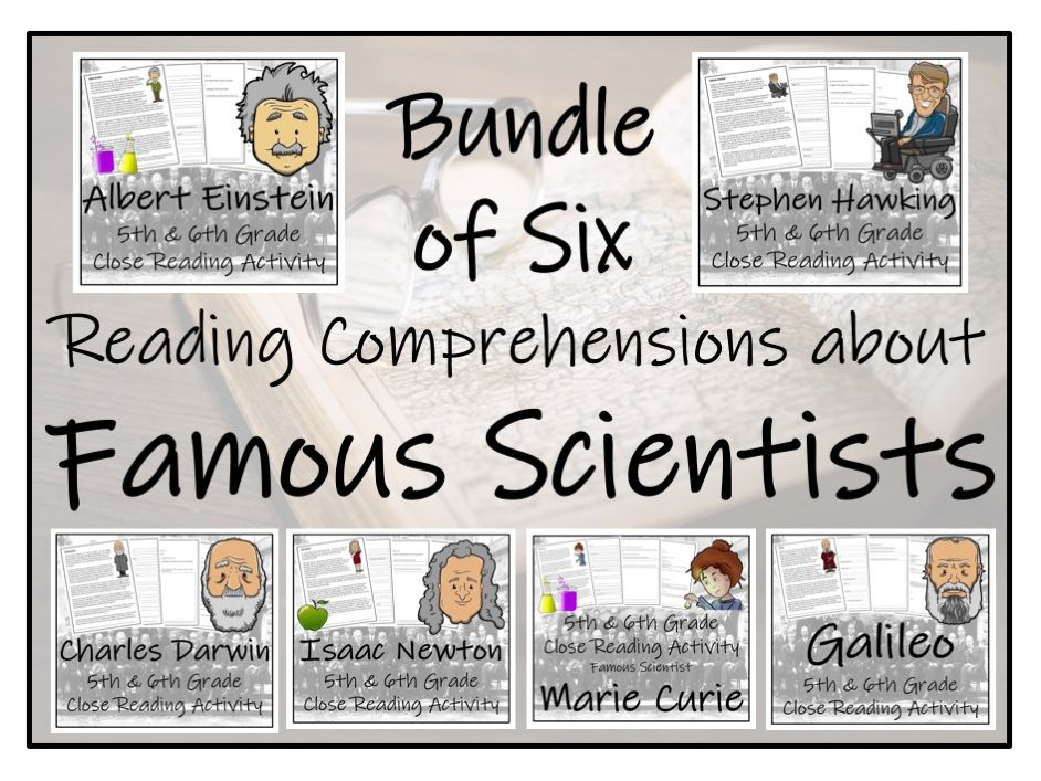 UKS2 Science - Famous Scientists Reading Comprehension Bundle