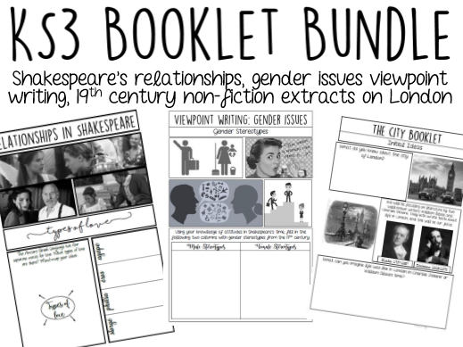 Three KS3 Booklets BUNDLE