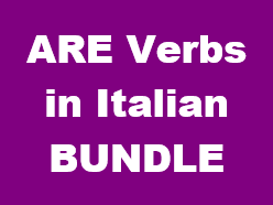 ARE Verbs in Italian Bundle