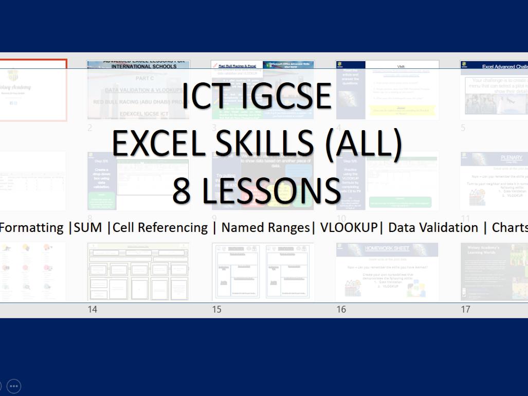 Excel Skills (IGCSE ICT)