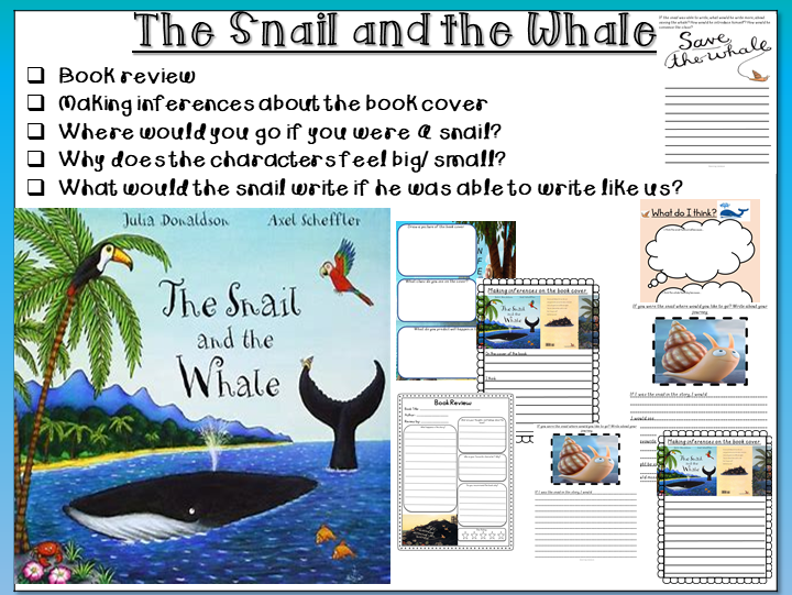 The Snail and the Whale-Inferences, Book Review, Snail Writing, Story Blurb and Trips